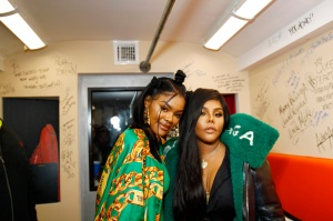 """Lil Kim Teyana Taylor celebrates the grand opening of """"Junie Bee Nails"""" with celeb friends in NYC"""