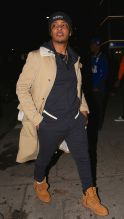 Rapper T.i arrives to nice guy. To celebrate with nipsey hussle. for his new album release party.