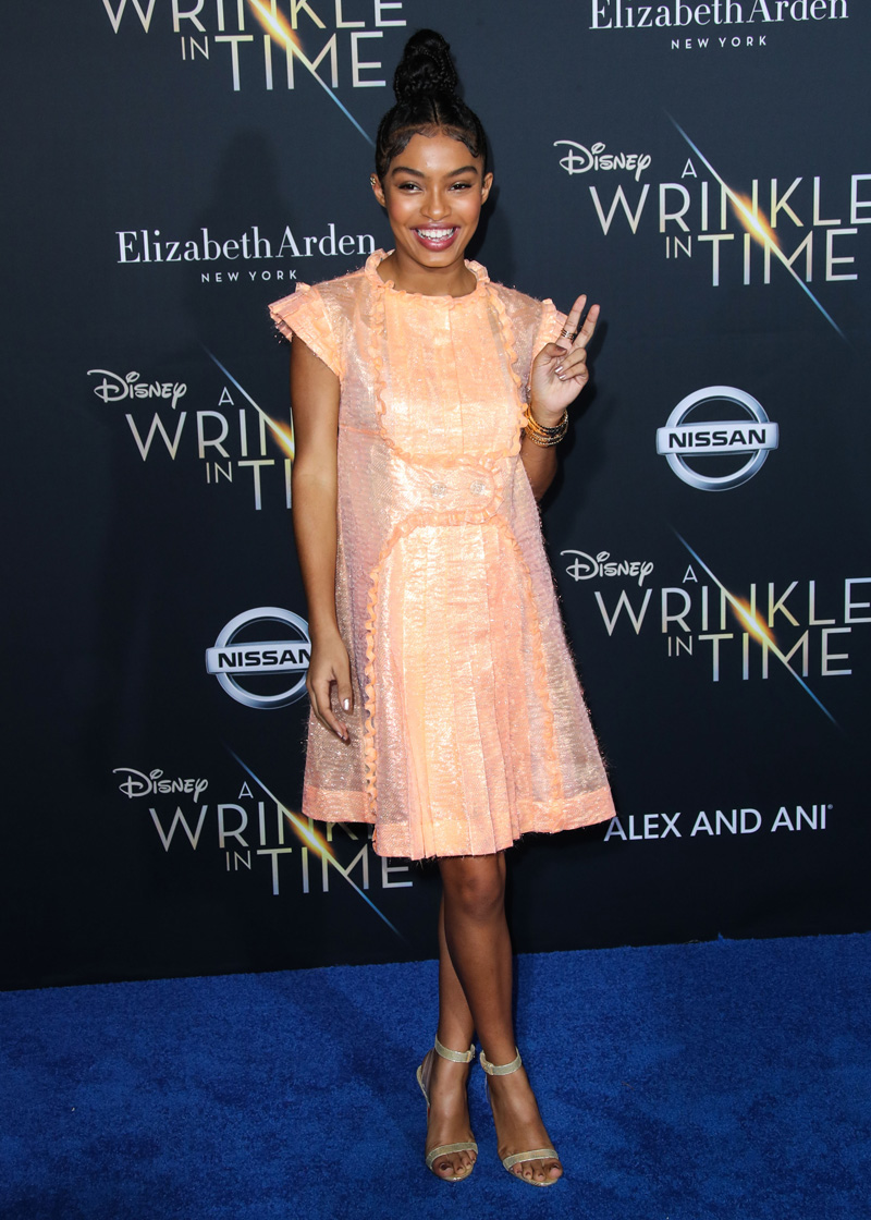 Yara Shahidi February 26, 2018 - Los Angeles, California, United States - February 26h 2018 - Los Angeles, California USA - The ''A Wrinkle In Time'' Premiere held at the El Capitan Theater, Hollywood, Los Angeles.