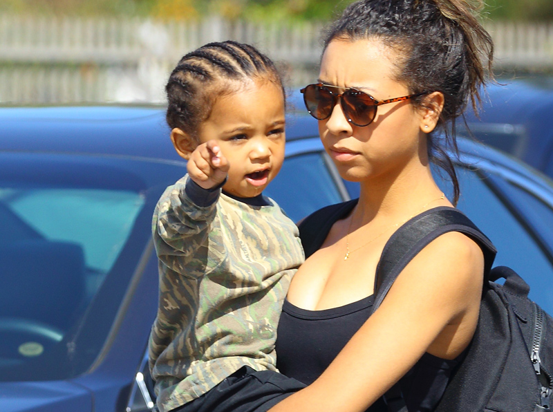 Saint West arrives at a children's salon in Los Angeles, CA