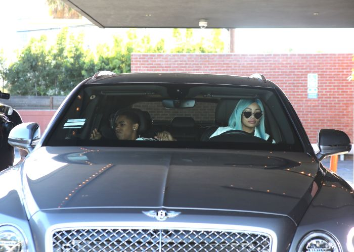 Today Black Chyna was spotted with her boytoy at restaurant in Beverly hills YBN Almighty Jay