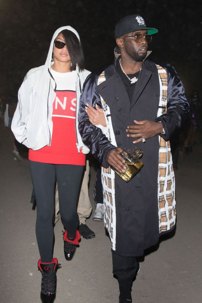 Cassie and P.Diddy are both seen arriving together at the Neon Carnival during Coachella Weekend.
