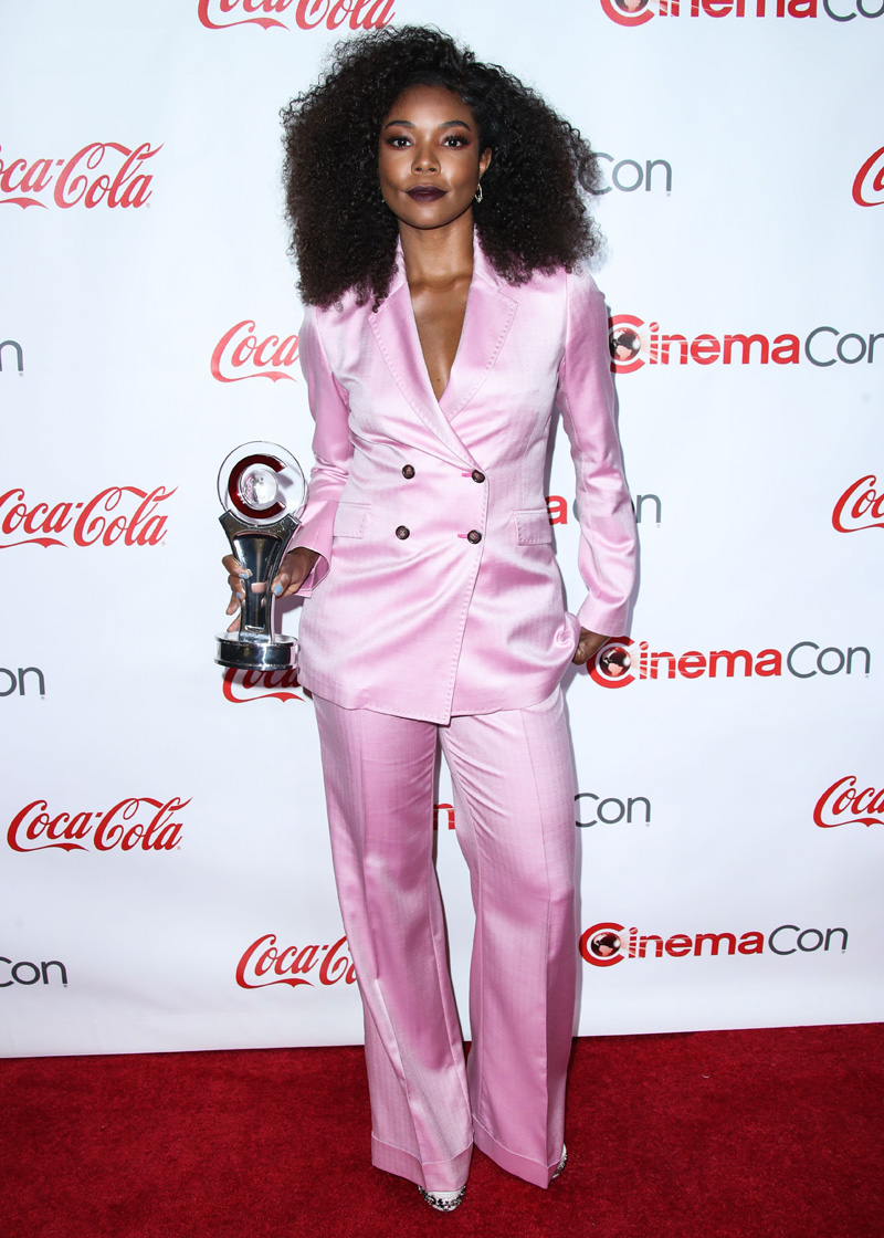 Gabrielle Union LAS VEGAS, NV, USA - APRIL 26: CinemaCon Big Screen Achievement Awards 2018 held at Omnia Nightclub at Caesars Palace during CinemaCon, the official convention of the National Association of Theatre Owners on April 26, 2018 in Las Vegas, Nevada, United States.