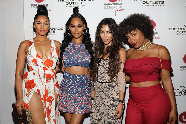 FORT LAUDERDALE, FL - MARCH 31:  (L-R) Darnell Nicole, Ashley Nicole Roberts, Metisha Schaefer, and Hencha Voigt attend The Nicole Miller 2017 Spring Collection At The Underground Lauderdale Fashion Weekend Brought To You By The Greater Fort Lauderdale Conventions & Visitors Bureau And Presented By The Colonnade Outlets hosted by Nina Garcia on March 31, 2017 in Fort Lauderdale, Florida.