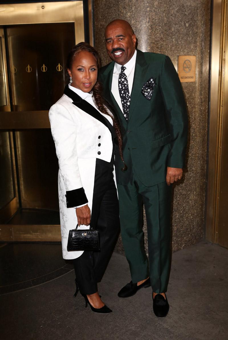 Dolce & Gabbana Alta Sartoria Fashion Show in NYC Steve Harvey and Marjorie Elaine Harvey