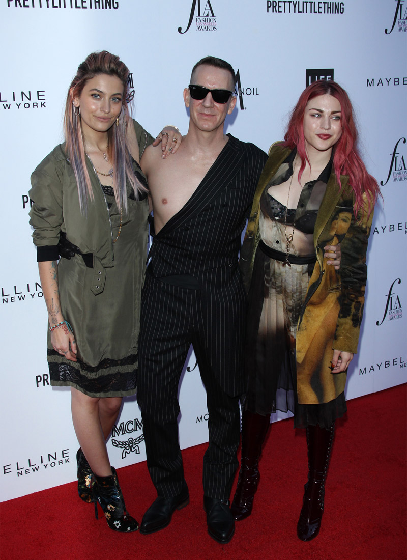 Paris Jackson Jeremy Scott Frances Cobain APRIL 08: The Daily Front Row's 4th Annual Fashion Los Angeles Awards held at the Beverly Hills Hotel on April 8, 2018 in Beverly Hills, Los Angeles, California, United States