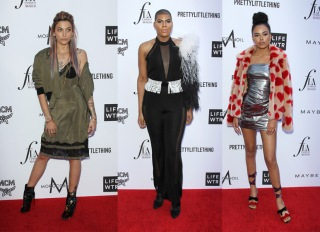 Paris Jackson EJ Johnson Ava Dash APRIL 08: The Daily Front Row's 4th Annual Fashion Los Angeles Awards held at the Beverly Hills Hotel on April 8, 2018 in Beverly Hills, Los Angeles, California, United States