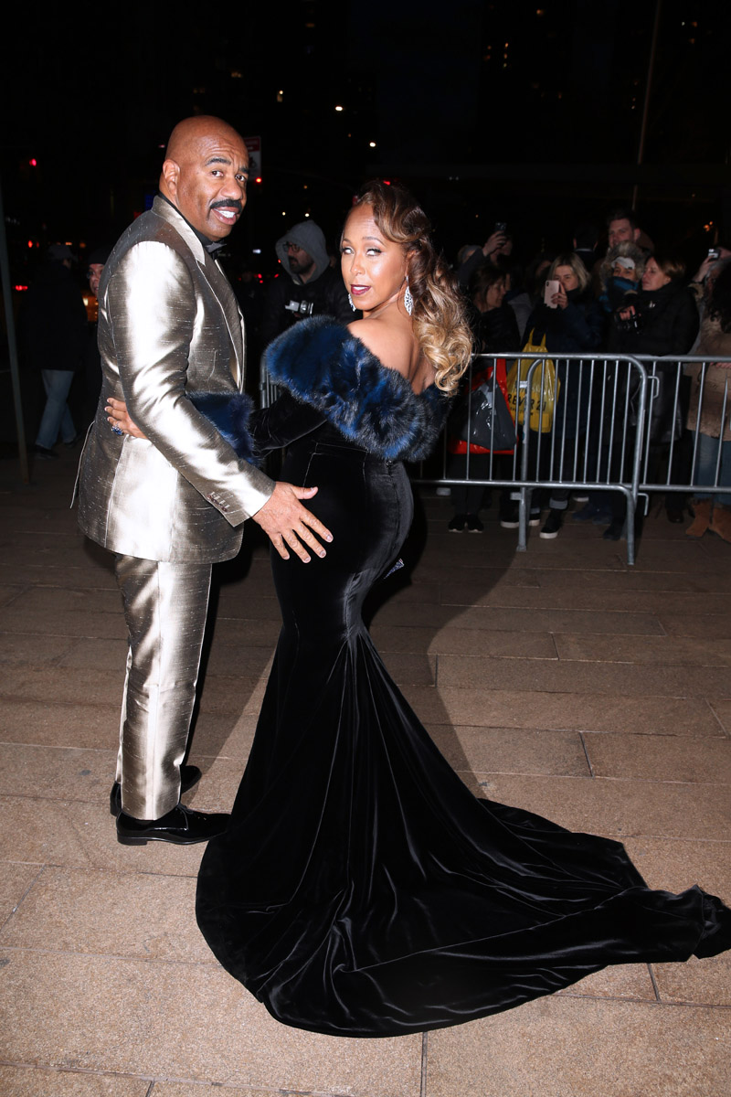 Dolce & Gabbana Alta Moda Women's Couture Fashion Show in NYC Steve Harvey and  Marjorie Elaine Harvey
