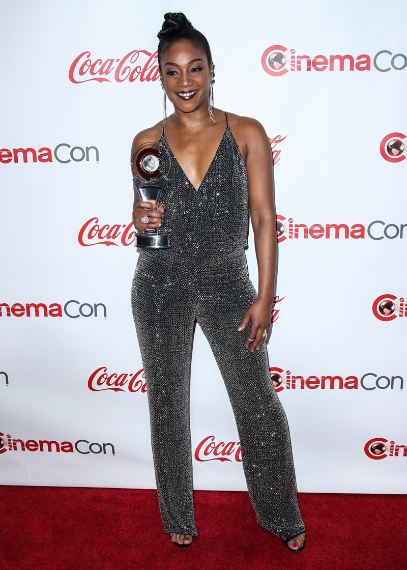 Tiffany Haddish LAS VEGAS, NV, USA - APRIL 26: CinemaCon Big Screen Achievement Awards 2018 held at Omnia Nightclub at Caesars Palace during CinemaCon, the official convention of the National Association of Theatre Owners on April 26, 2018 in Las Vegas, Nevada, United States.