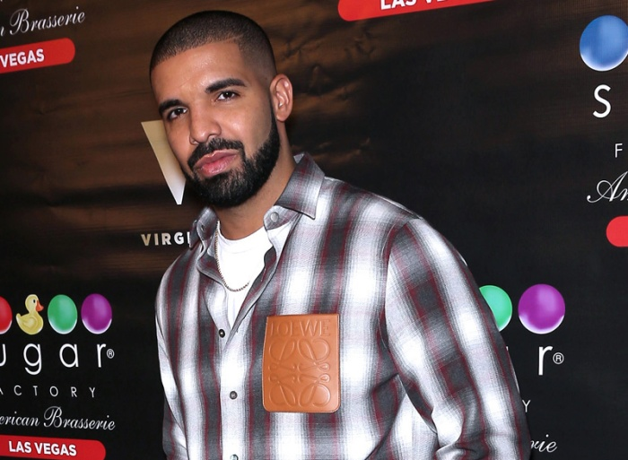 Drake, Virginia Black Whiskey and Sugar Factory American Brasserie debut the new 'Night Owl' goblet at the Fashion Show Mall in Las Vegas, Nevada.