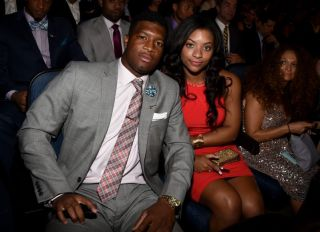 LOS ANGELES, CA - JULY 16: College athlete Jameis Winston (L) and Breion Allen attend The 2014 ESPYS at Nokia Theatre L.A. Live on July 16, 2014 in Los Angeles, California.
