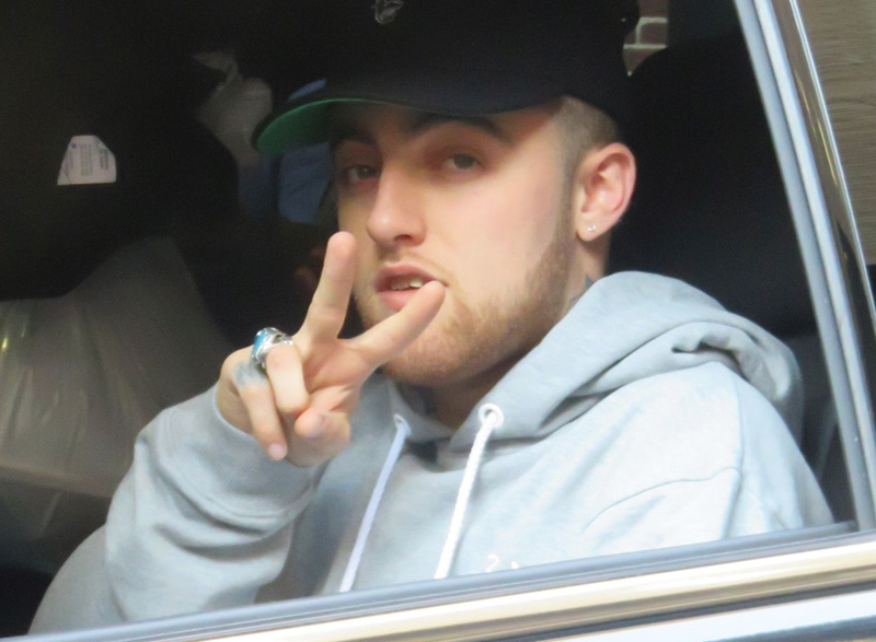 Mac Miller attends The Late Show with Stephen Colbert.