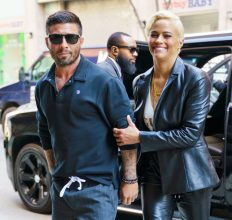 Paula Patton holds hands with married boyfriend of one month Zachary Quittman when out and about on April 18, 2018 in New York City
