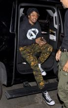 Nick Cannon Nick Cannon was seen arriving arriving to Stevie Wonders Song Party at Peppermint Night Club in West Hollywood