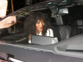 Angela Bassett Stevie Wonder is spotted arriving to The Peppermint Club in West Hollywood
