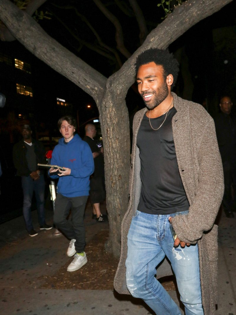 Donald Glover Stevie Wonder is spotted arriving to The Peppermint Club in West Hollywood