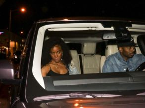 Kelly Rowland Tim Weatherspoon Stevie Wonder is spotted arriving to The Peppermint Club in West Hollywood