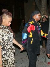 Stevie Wonder and Tomeeka Bracy Stevie Wonder is spotted arriving to The Peppermint Club in West Hollywood