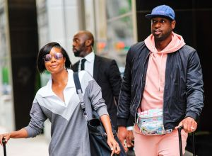 Gabrielle Union and Duane Wade check out of their hotel in New York