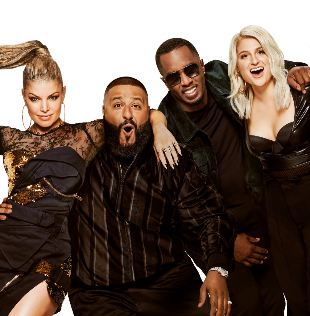 THE FOUR: BATTLE FOR STARDOM: L-R: Fergie, DJ Khaled, Sean Diddy Combs and Meghan Trainor. Six-episode event THE FOUR: BATTLE FOR STARDOM premieres Thursday, Jan. 4 (8:00-10:00 PM ET/PT) on FOX.