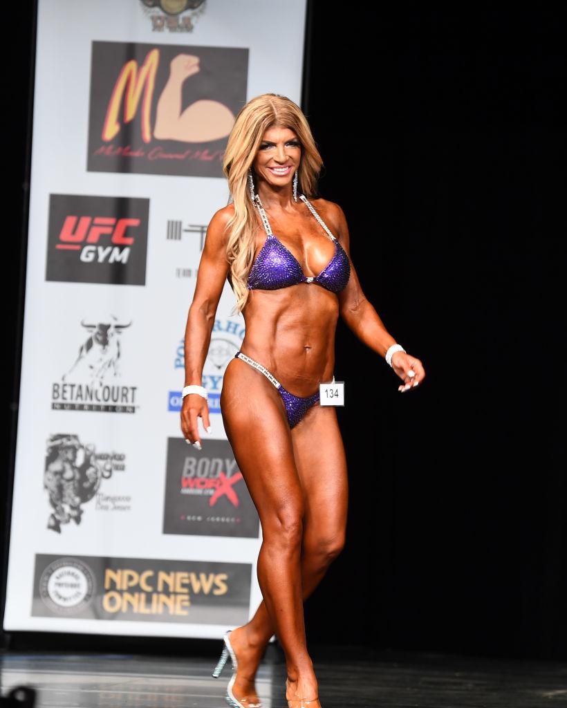 MEDFORD, NJ - JUNE 09:  Teresa Giudice competes in the Bikini Division of the NPC South Jersey Bodybuilding Championships on June 9, 2018 in Medford, New Jersey.