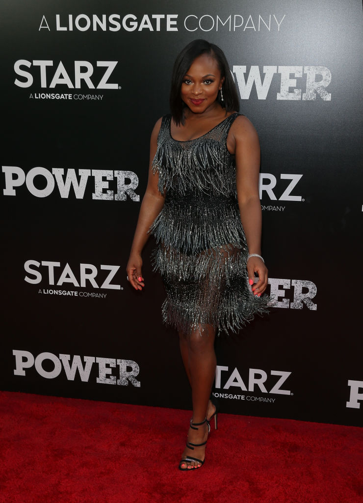 "NEW YORK, NY - JUNE 28: Actor Naturi Naughton poses for a picture during the ""Power"" Season 5 premiere at Radio City Music Hall on June 28, 2018 in New York City."