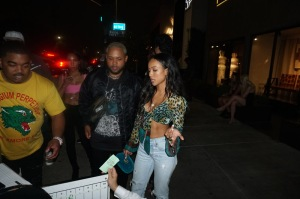 Actress and model Karrueche Tran Poppy's in West Hollywood, USA.