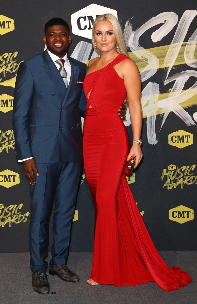 2018 CMT Music Awards Love from the Bridgestone Arena in Nashville, TN  Featuring: P K Subban, Lindsey Vonn