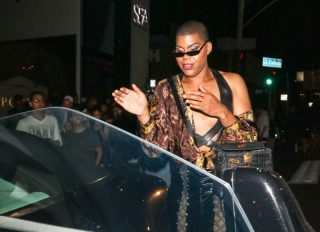 EJ Johnson outside Poppy Nightclub in West Hollywood