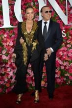 Thalia Mottola Tommy Mottola 2018 Tony Awards held at Radio City Music Hall - Arrivals.