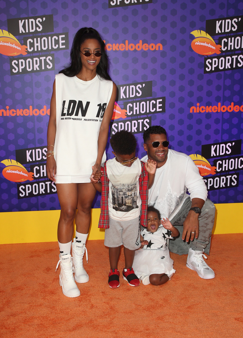 Nickelodeon Kids' Choice Sports Awards 2018 Ciara, Ciara Princess Harris, Sienna Princess Wilson, Future Zahir Wilburn, Russell Wilson