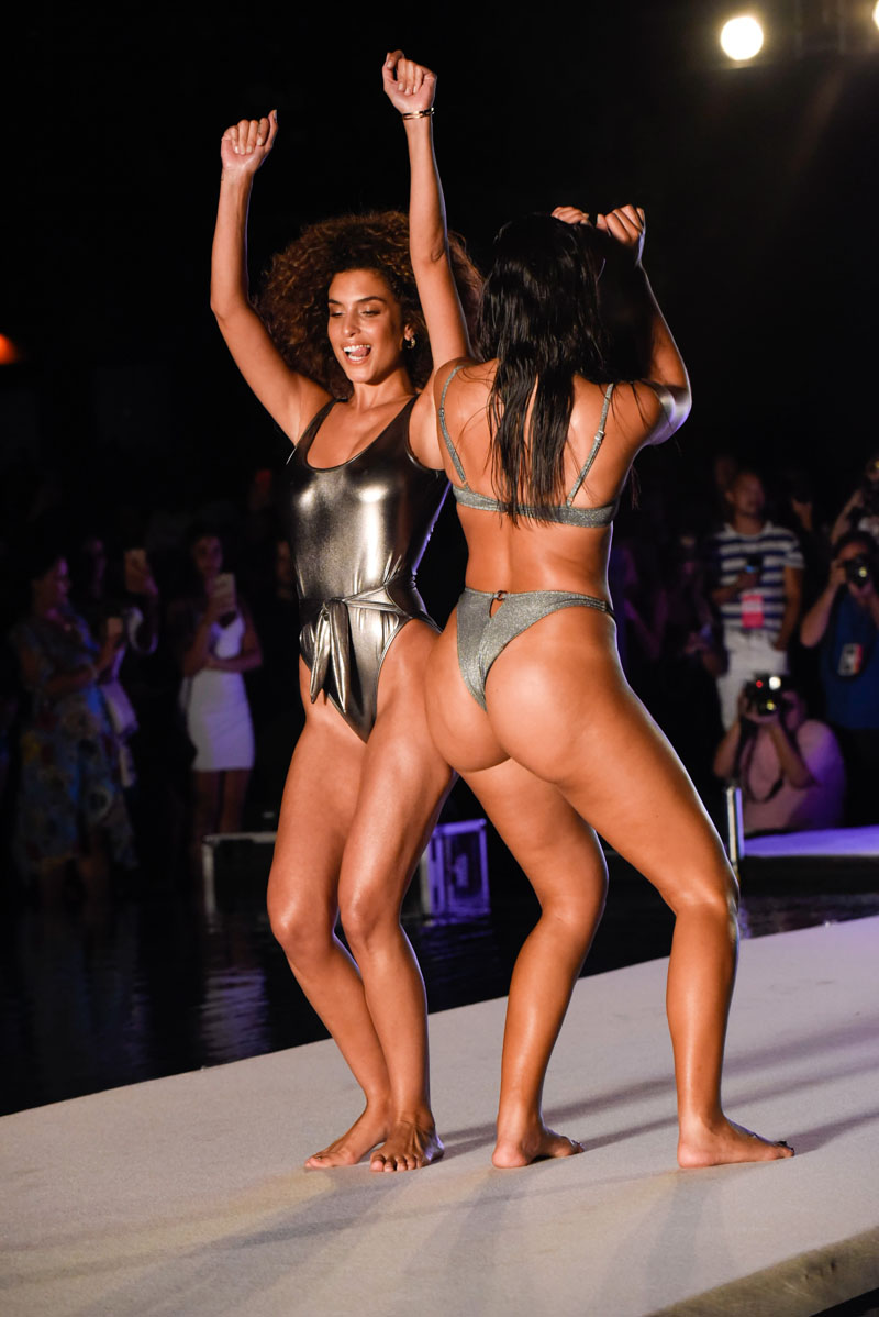 Sports Illustrated Swim Search models walk the runway at the Sports Illustrated Swimsuit #SISwimSearch show during Paraiso at W South Beach on July 15, 2018 in Miami Beach, Fla.