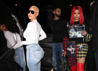 Blac Chyna Amber Rose Party At Ace of Diamonds AOD Mondays