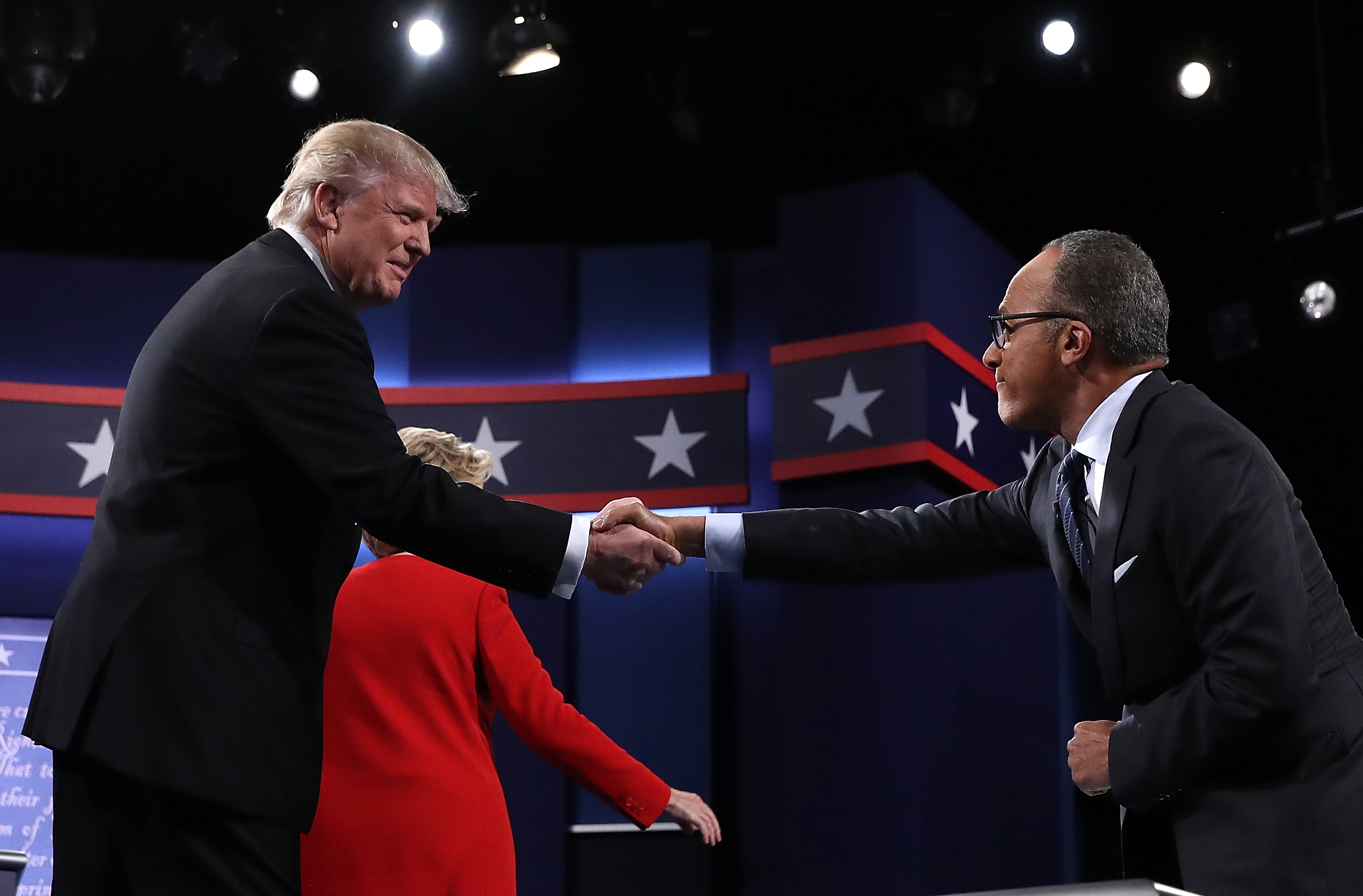 """Donald Trump accuses NBC's Lester Holt of """"fudging the tape"""" referring to his comments about firing James Comey over the Russian investigation"""