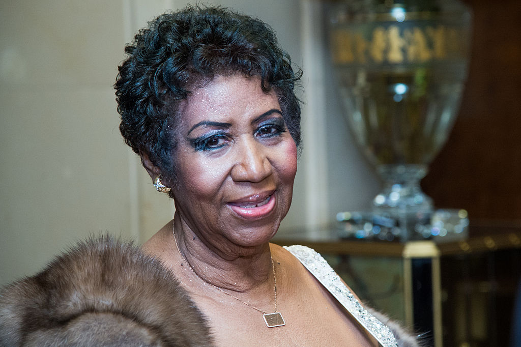 NEW YORK, NY - MARCH 22: Singer Aretha Franklin attends the Aretha Franklin Birthday Celebration at the Ritz Carlton Hotel on March 22, 2015 in New York City.