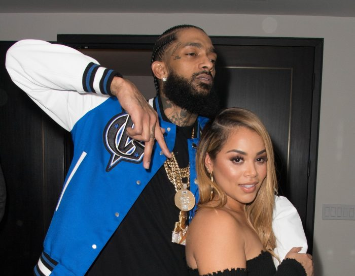 Nipsey Hussle and girlfriend Lauren London