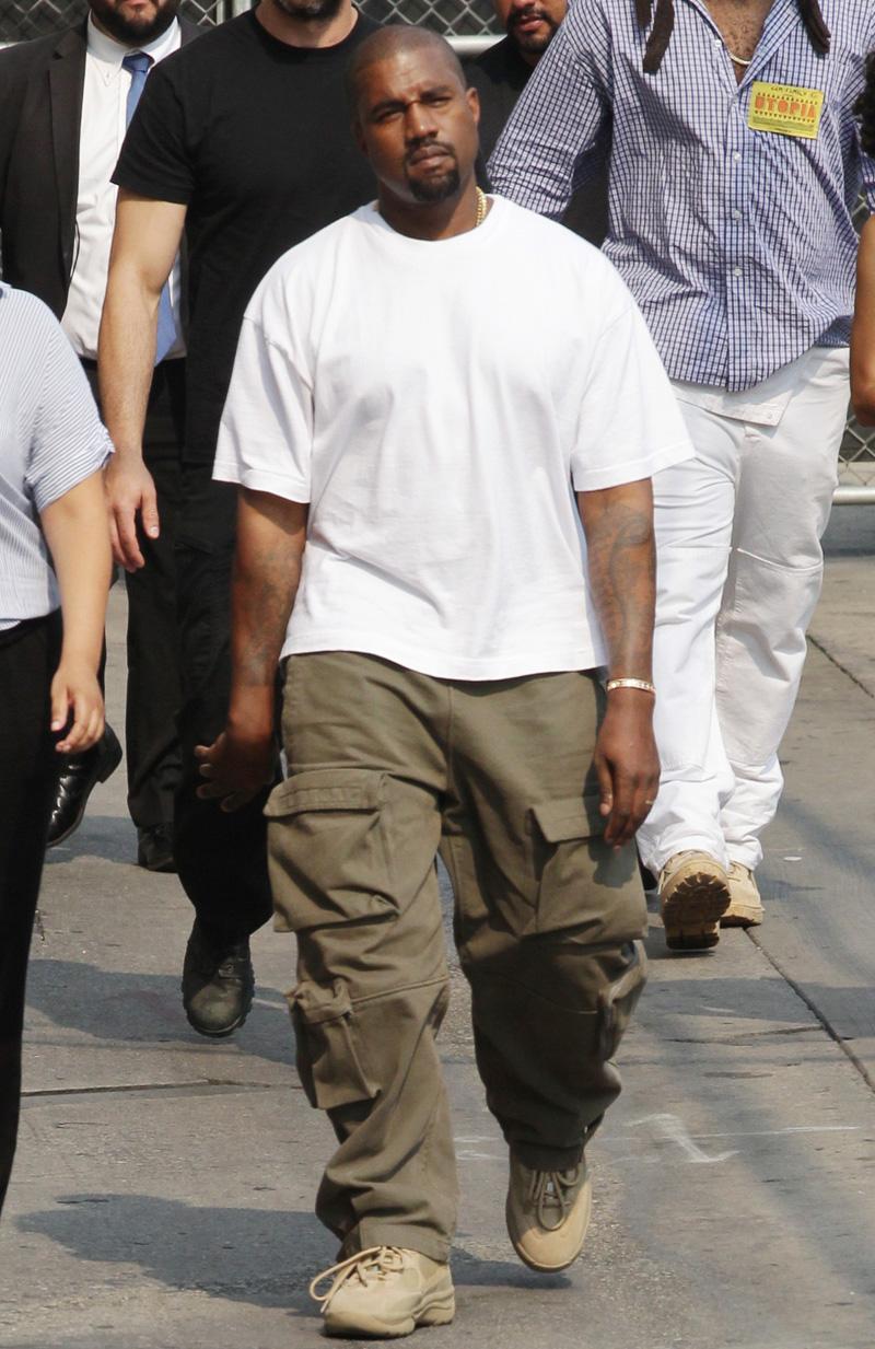 Kanye West Arriving At Jimmy Kimmel Live In Los Angeles