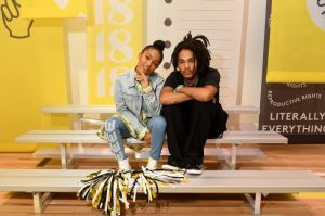 BROOKLYN, NY - SEPTEMBER 05: Yara Shahidi and Luka Sabbat attends the Refinery29 29Rooms New York 2018: Expand Your Reality Opening Party on September 5, 2018 in Brooklyn City.
