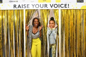 BROOKLYN, NY - SEPTEMBER 05: Yvonne Orji and Yara Shahidi attend the Expand Your Reality Opening Party on September 5, 2018 in Brooklyn City.