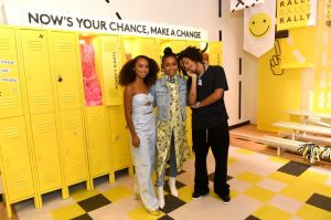 BROOKLYN, NY - SEPTEMBER 05: Logan Browning, Yara Shahidi and Luka Sabbat attend the Refinery29 29Rooms New York 2018: Expand Your Reality Opening Party on September 5, 2018 in Brooklyn City.