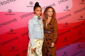 BROOKLYN, NY - SEPTEMBER 05: Yara Shahidi and Nicole Richie attend the Expand Your Reality Opening Party on September 5, 2018 in Brooklyn City.