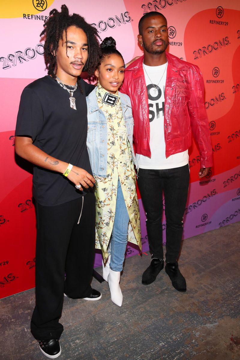 BROOKLYN, NY - SEPTEMBER 05:  Luka Sabbat, Yara Shahidi and Trevor Jackson attend the Expand Your Reality Opening Party on September 5, 2018 in Brooklyn City.