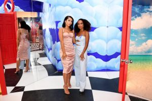 BROOKLYN, NY - SEPTEMBER 05: Kali Uchis and Logan Browning attend the Refinery29 29Rooms New York 2018: Expand Your Reality Opening Party on September 5, 2018 in Brooklyn City.