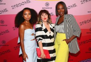 BROOKLYN, NY - SEPTEMBER 05: Logan Browning, Piera Gelardi and Yvonne Orji attends the Expand Your Reality Opening Party on September 5, 2018 in Brooklyn City.