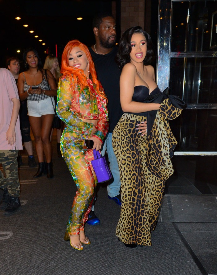 Cardi B and sister Hennessy, spend time together following Jeremy Scott show in New York