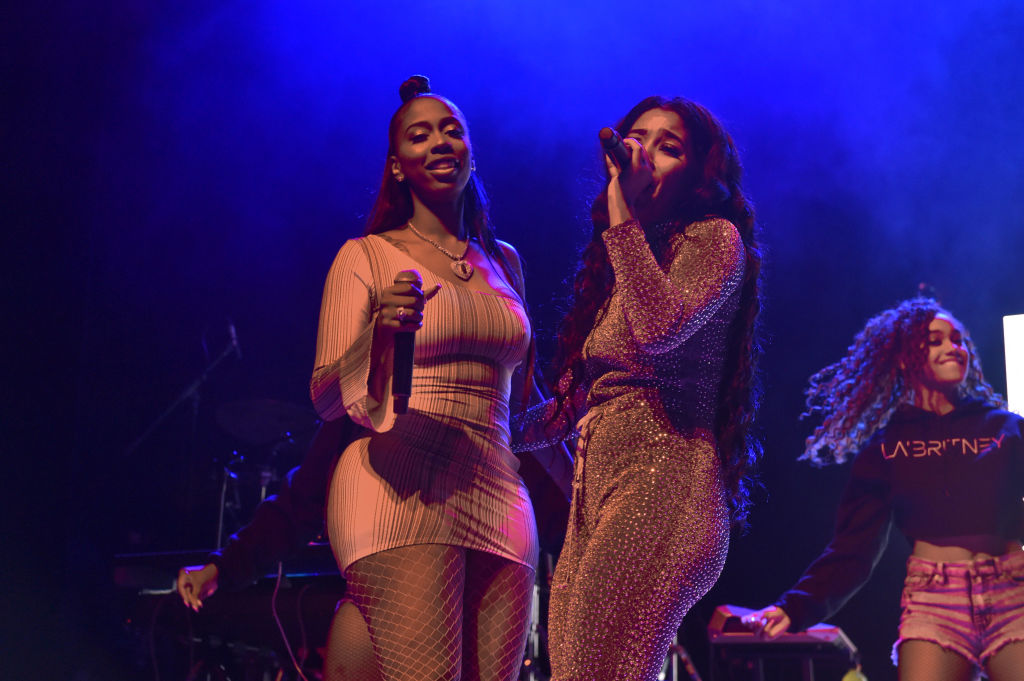 DETROIT, MI - AUGUST 17: Singers LaBritney and Kash Doll perform on stage during the 'Keep That Same Energy' (K.T.S.E.) Tour at The Majestic Theater on August 17, 2018 in Detroit, Michigan.