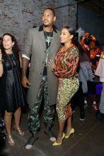 NEW YORK, NY - SEPTEMBER 13: Carmelo Anthony (L) and La La Anthony (R) are seen on September 13, 2018 in New York City.