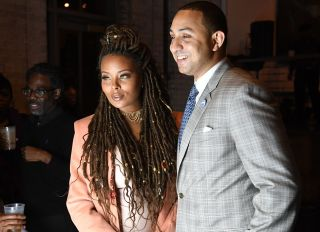 ATLANTA, GA - DECEMBER 22: Eva Marcille and Michael Sterling attend 9th Annual Celebration 4 A Cause Fashion Show at King Plow Arts Center on December 22, 2016 in Atlanta, Georgia.