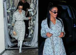 WEST HOLLYWOOD, LOS ANGELES, CA, USA - SEPTEMBER 27: Kim Kardashian West seen arriving at Delilah on September 27, 2018 in West Hollywood, Los Angeles, California, United States.