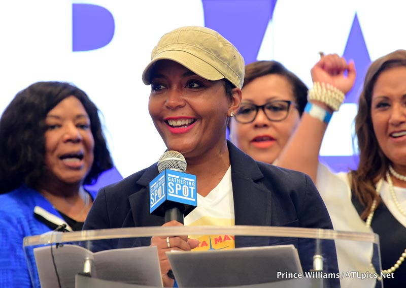 Keri Hilson Monica Brown Kandi Burruss Tucker Keshia Knight Pulliam Mali Hunter Rep. Maxine Waters actress Erika Alexander support Stacey Abrams for Georgia Governor